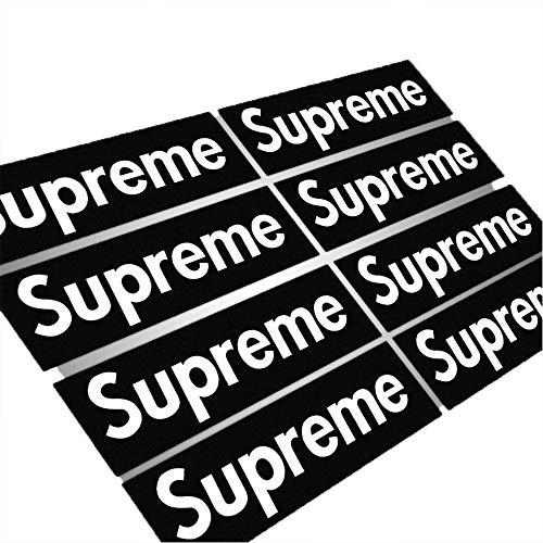 200 pcs Supreme Sticker Black Waterproof and Oil Proof Sticker Skateboarding Sticker