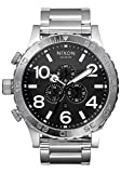 Nixon 51-30 Chrono Black/Silver Men's Underwater Stainless Steel Watch (51mm. Black Face/Silver Stainless Steel Band)