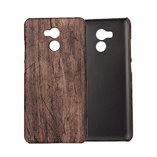 3 opinioni per Custodia Xiaomi Redmi 4 Prime , Leathlux Ultra Slim Wood Grain Duro PC Indietro