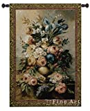 Fine Art Tapestries Mothers Bouquet Small Wall Tapestry 2147-WH 38 inches wide by 53 inches long, 100% cotton