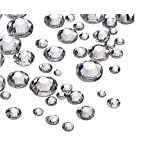 1440 Pieces Clear Crystal Flatbacks Flat Back Rhinestones Round Crystal Gems for Crafts Face Body Eyes Nails Makeup Festival Carnival Mix Size 1.4 mm - 4 mm