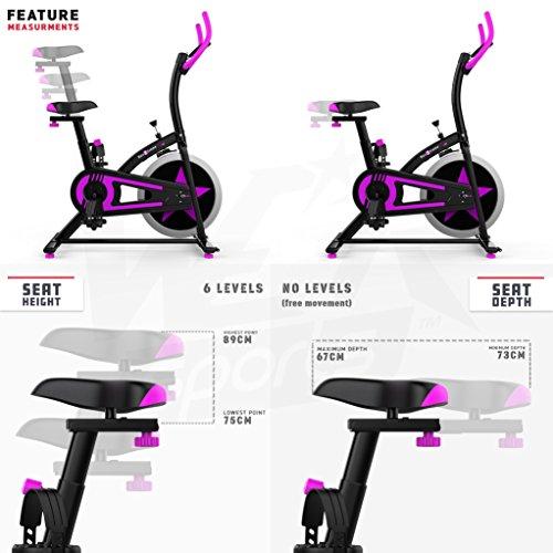 We R Sports C100 - Bicicletas estáticas y de spinning para fitness, color negro, talla NA: Amazon.es: Deportes y aire libre