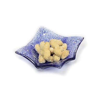 ponze Cristal Fuente para servir aperitivos Tuercas Condimentos Bandeja Dipping para aperitivos Star