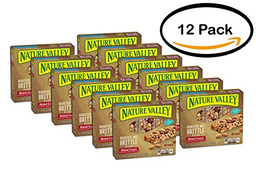 PACK OF 12 - Nature Valley Almond Crunch Roasted Nut Brittle Bars 6 ct (Nature Valley Roasted Nut)