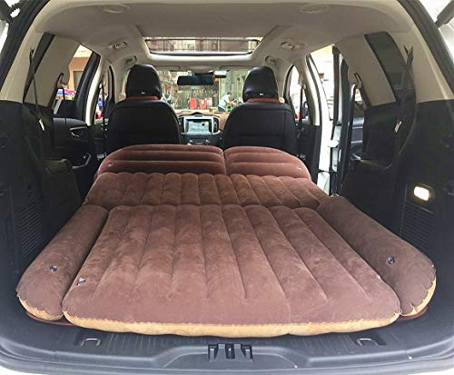 SUV Air Mattress,Car Travel Inflatable Mattress Air Bed Cushion Camping Universal SUV Extended Air Couch with Two Air ()