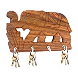 Best IndiaBigShop Carving Woods - IndiaBigShop Wooden Handmade Single Elephant Carving Work Key Review
