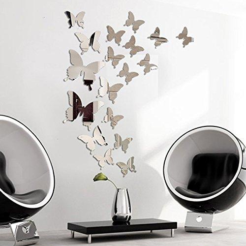 3 opinioni per Adesivi da Parete a Farfalla 3D a Specchio 3D Adesivo Autoadesivo in PVC Adesivo