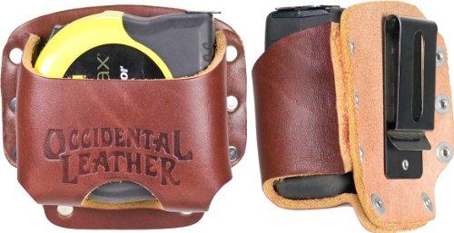 Occidental Leather 5046 Clip-On Lg. Tape Holster - Measuring Tape Holder