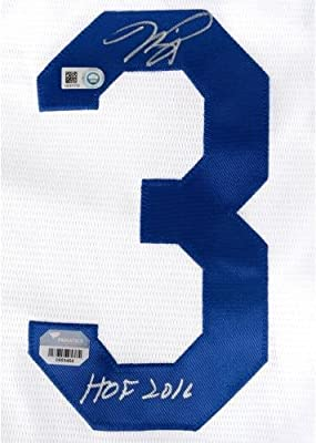 de9ad1235c8 Mike Piazza Los Angeles Dodgers Autographed White Replica Jersey with HOF  16 Inscription - Fanatics Authentic. Loading Images... Back. Double-tap to  zoom