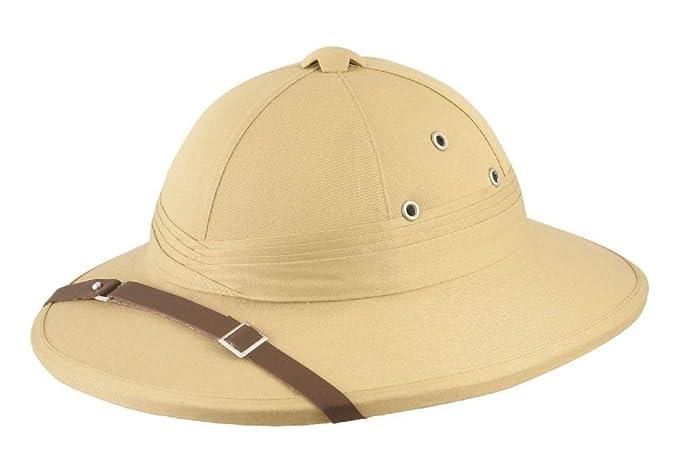 Jungle Explorer Indiana Jones Safari Hat Pith Helmet Fancy Dress Hard