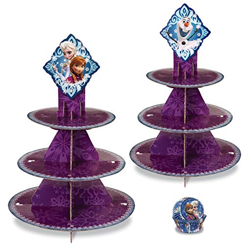 Wilton Disney Frozen Treat Stand and Cupcake Liners Party Set, 3-Piece]()