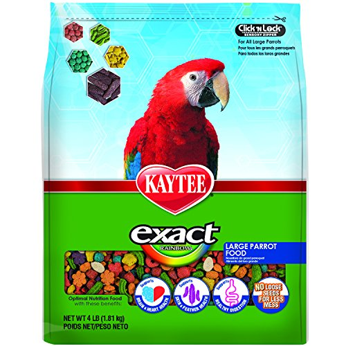 Kaytee Exact Rainbow Bird Food for Large Parrots, 4-Pound