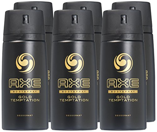 AXE Deodorant Bodyspray, Gold Temptation 4 oz (Pack of 6) by AXE (Image #1)