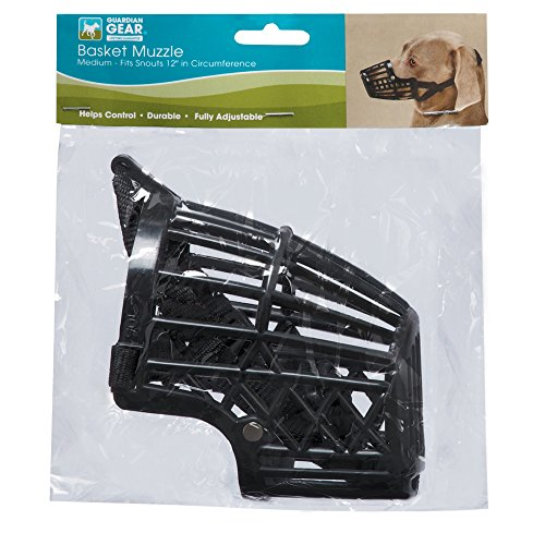 Image of Guardian Gear Flexible Plastic Dog Basket MuzzleLarge, Black