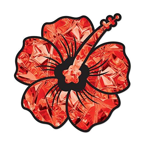 Garnet Hibiscus Flower Birthstone Decal January Red Print Sticker Vinyl Rear Window Car Truck Laptop Gem Travel Mug Water and Fade Resistant 2.5 Inches