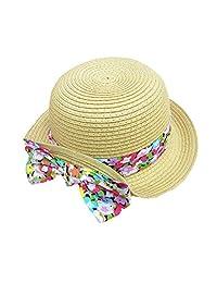 Straw Panama Hats Girls Babies Children Colorful Bowknot Sun Sunmmer Hat