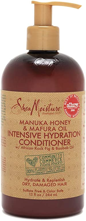 SheaMoisture Manuka Honey & Mafura Oil Intensive Hydration Conditioner for Dry, Damaged Hair Conditioner to Nourish and Soften Hair 13 oz