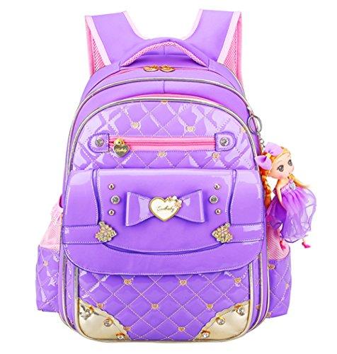 Fille D'anniversaire à 1 Dos 6 école élèves Sac Cadeau Princesse 3 4 Purple Lumière Campus QXMEI Sac Grade Sac étanche cWBUxWt8