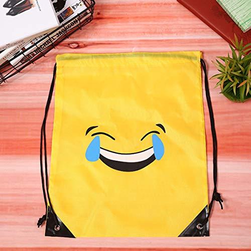 Sacs Enfants 6pcs Ados Dos À Drawstring BESTOYARD À Emoticon Sac pour Dos wtqCxZ