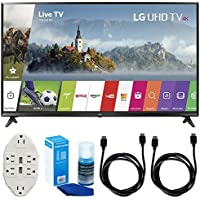 LG 43' Super UHD 4K HDR Smart LED TV - 43UJ6300 (2017 Model) w/ Accessories Bundle Includes, Transformer Tap USB w/ 6-Outlet Wall Adapter & 2 Ports, 2x 6ft. HDMI Cable & Screen Cleaner For LED TVs