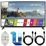 "LG 43"" UHD 4K HDR Smart LED TV - 43UJ6300 (2017 Model) w/Accessories Bundle Includes, Transformer Tap USB w/6-Outlet Wall Adapter & 2 Ports, 2 x 6ft. HDMI Cable & Screen Cleaner For LED TVs"