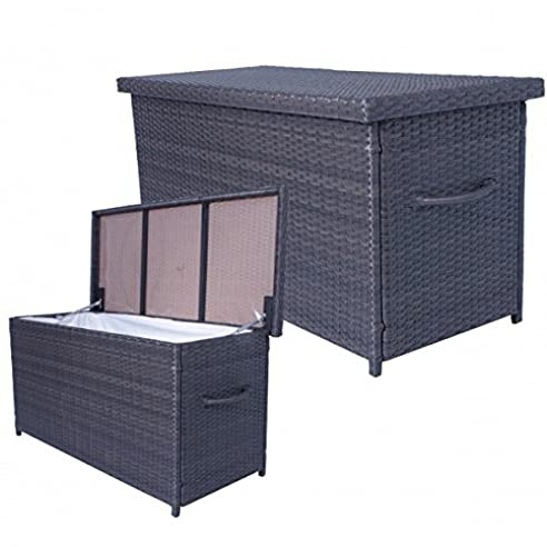 Amazon.de: Auflagenbox ATHEN Rattan Kissenbox Gartenbox ...