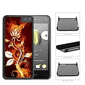 Flower Burning With Fire Flames And Smoke Hard Plastic Snap On Cell Phone Case Amazon Fire by icecream design