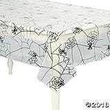 "Halloween Spider Web Design Plastic Table Cover 54"" x 108"""