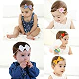 Baby Girl Headbands and Bows Nylon Hairbands Hair