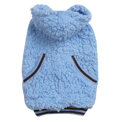 Casual Canine Polyester Snowbaby Dog Hoodie, Medium, 16-Inch, Blue, My Pet Supplies
