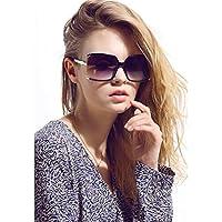 Más reciente diseño de la mujer anteojos de sol de protección UV Oversized cuadrado anteojos de sol + Case