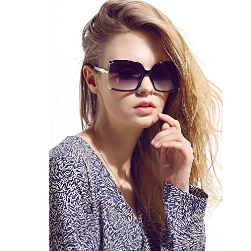 New Fashion Women Oversized Square sunglasses UV Protection eye glasses Goggles - Square Women's Sunglasses