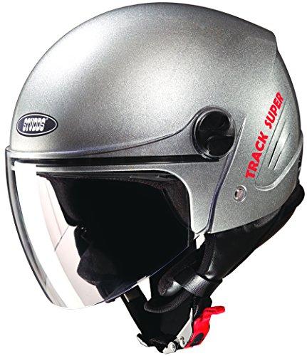 Studds Track Super Open Face Helmet (Silver Grey, XL)