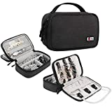 BUBM Travel Jewelry Case Accessories Holder Organizer Storage Carrying Pouch Bag(Black)