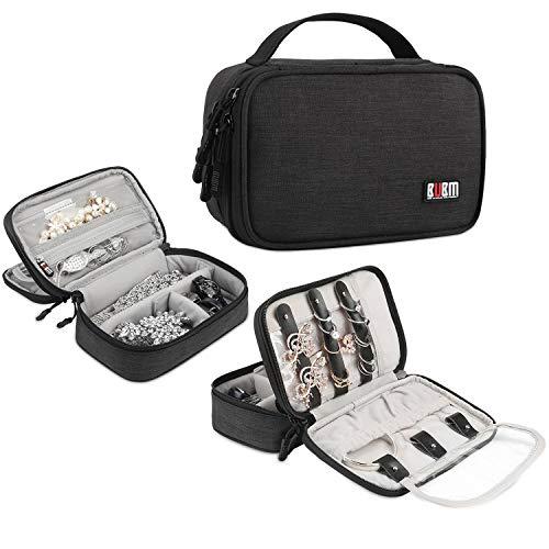 BUBM Watch Travel Jewelry Case Accessories Holder Organizer Storage Carrying Pouch Bag Black