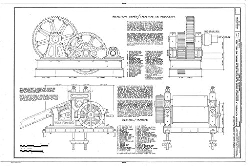- Blueprint Diagram HAER PR,55-MANA,1A- (sheet 3 of 4) - Hacienda Azucarera La Esperanza, Steam Engine & Mill, 2.65 Mi. N of PR Rt. 2 Bridge over Manati River, Manati, Manati Municipio, PR 44in x 30in