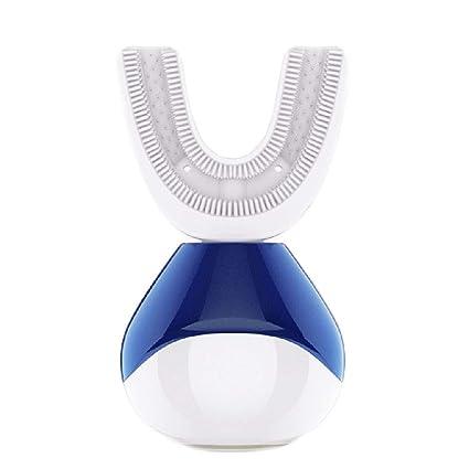 Cepillo de dientes eléctrico automático ultrasónico en forma de U Recargable blanqueamiento de dientes adultos 360