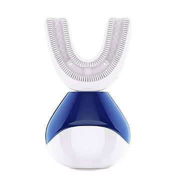 Cepillo de dientes eléctrico automático ultrasónico en forma de U Recargable blanqueamiento de dientes adultos 360 grados limpio Inteligente De Silicona ...