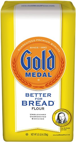 Gold Medal Better for Bread Flour, 10 Pound (Pack of 4)