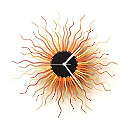 Medusa copper L - Copper and Gold Colored Large Sized Contemporary Wooden Wall Clock, a Piece of Wall Art