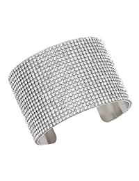 Modern Gems Crystal Cuff Bracelet
