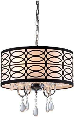 Whse of Tiffany RL4825 Tallalluh 4-Light Chrome Chandelier, 17 x 17 x 9