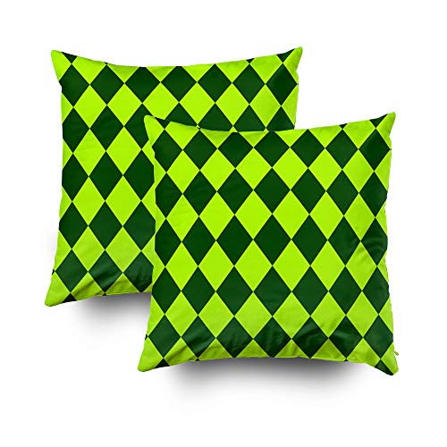 Diamond Toss Wallpaper - Art Pillow Case,Seamless Patterns for a St Patrick Day Concept of Design of Wallpaper Background Website Brown Festive Paper A Print on Fabric in Flat Rhombuses and Geometrical figuresCapsceoll 16x16