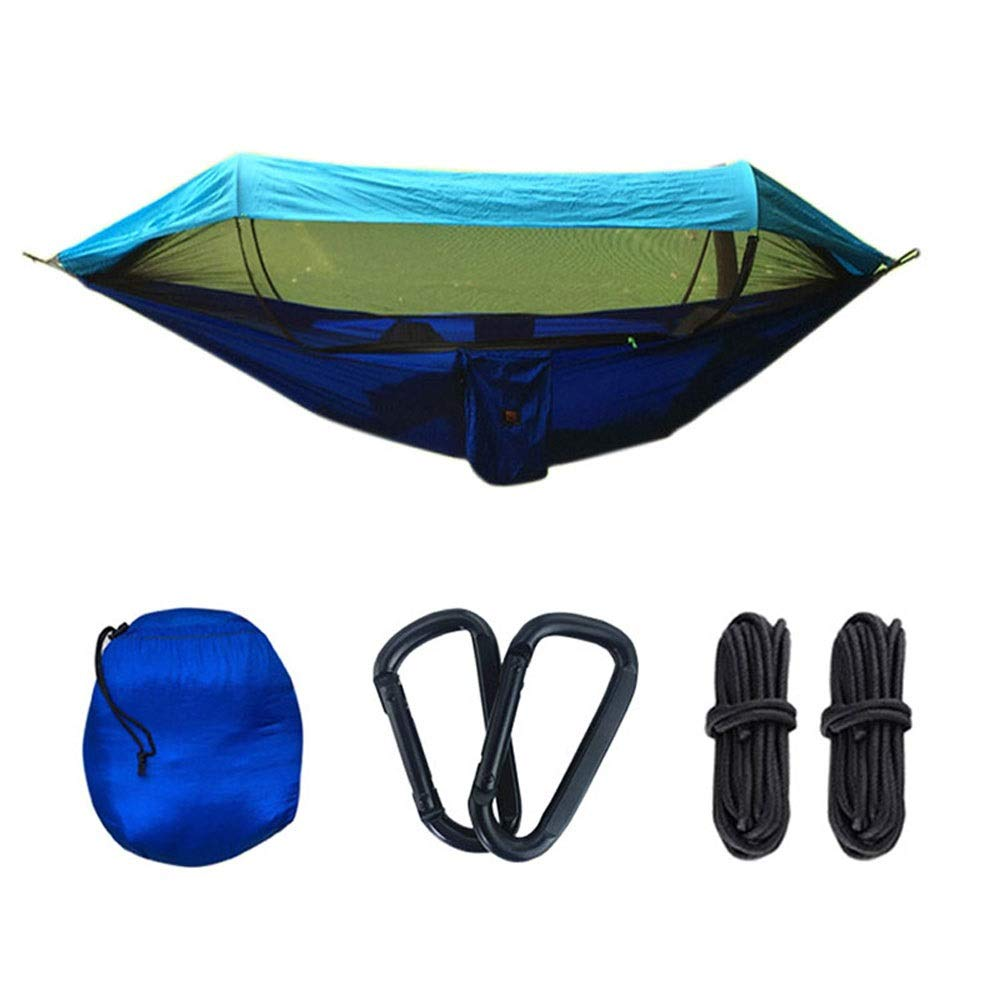 DZWLYX Hammock with Mosquito Net - Ultralight Parachute Nylon Load 200kg, Windproof Rainproof and UV Resistant, for Outdoor Camping Hiking Picnic Travel Breathable, Comfortable by DZWLYX