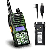 Baofeng - UV-5XTP 8W Dual Display VHF136-174MHz UHF400-520MHz Handheld Two-way Radio Standby Transceiver Walkie Talkie+Backup Battery+Programming Cable
