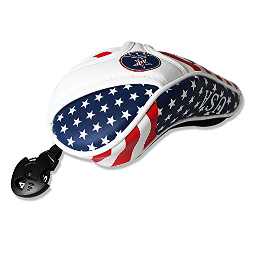 Craftsman Golf Stars and Stripes American USA US Flag Hybrid Headcover Head Cover For Taylormade SLDR JetSpeed Rescue Titleist Adams Callaway Big (Hybrid Putter Headcovers)