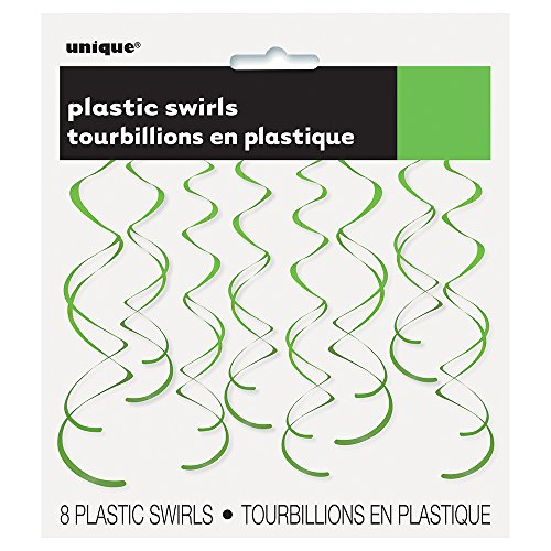 Plastic Hanging Swirl Green Decorations