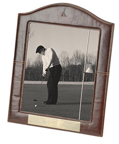Golf Plaque Emblem (Navika PGA Vintage Golfer Leather Photo Frame, 8