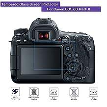 MOTONG Canon EOS 6D Mark II Screen Protector - MOTONG LCD Tempered Glass Screen Protector For Canon EOS 6D Mark II,9 H Hardness,0.3mm Thickness,Made From Real Glass