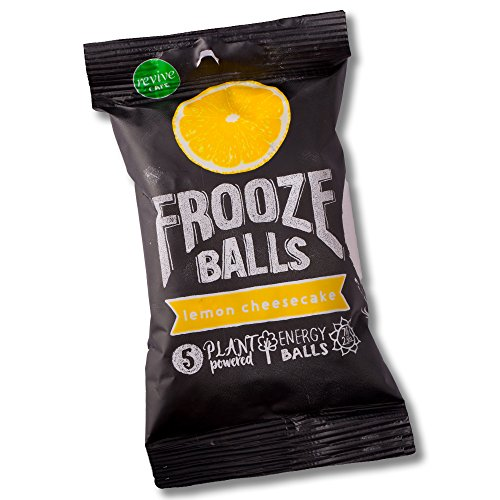 Frooze Balls Lemon Cheesecake (8 packets). Plant Powered Clean Energy. | Gluten Free | Vegan | Non GMO Lemon Cheesecake Ingredients